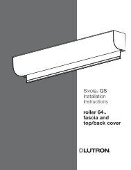 Sivoia® QS roller 64™ fascia and top/back cover - Lutron