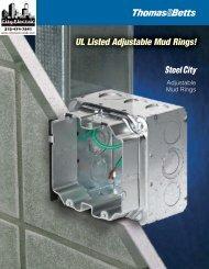 UL Listed Adjustable Mud Rings!