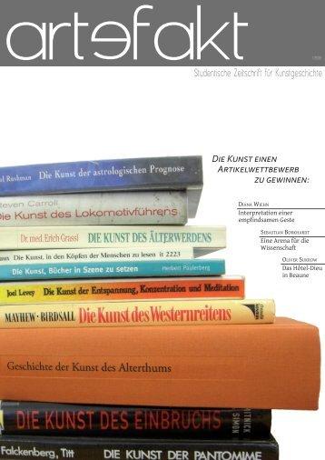 DIE KUNST EINEN ARTIKELWETTBEWERB ZU GEWINNEN - Artefakt