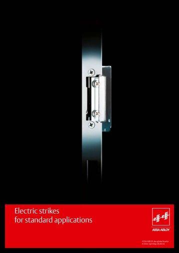 Electric strikes for standard applications - Herning Pengeskabsfabrik