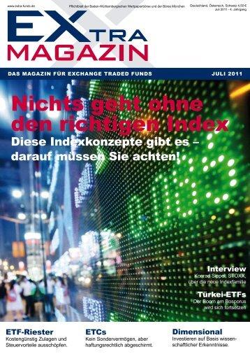 nichts geht ohne den richtigen index - EXtra-Magazin