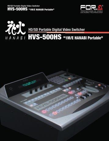 "HVS-500HS ""1M/E HANABI Portable"" - Budget Video Rentals"