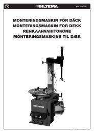 MonteringsMaskin för däck MonteringsMaskin for dekk ... - Biltema
