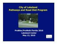 Lakeland Road Diet Program - Florida Bicycle Association