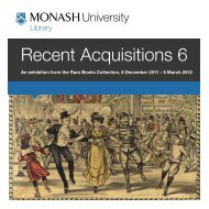 Recent Acquisitions 6 - Library - Monash University