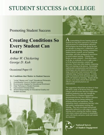 Creating Conditions So Every Student Can Learn - Eric