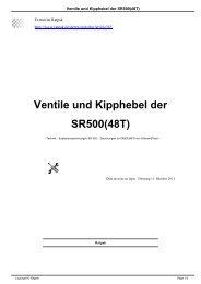 Ventile und Kipphebel der SR500(48T) - Ratpak