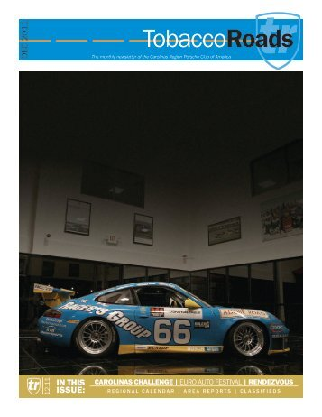 TobaccoRoads - Carolinas Region Porsche Club of America (PCA)