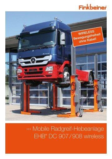 Mobile Radgreif-Hebeanlage EHB® DC 907 / 908 wireless