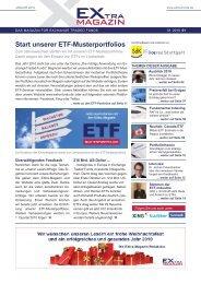 unserer ETF-Musterportfolios - EXtra-Magazin