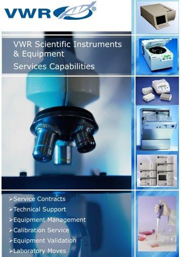 vwr_service capabilities