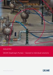 INDUSTRY DESMI Diaphragm  Pumps – Geared to individual solutions