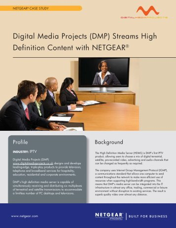Digital Media Projects (DMP) Streams High Definition ... - Netgear