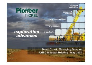 Exploration Advances - Pioneer Resources Limited