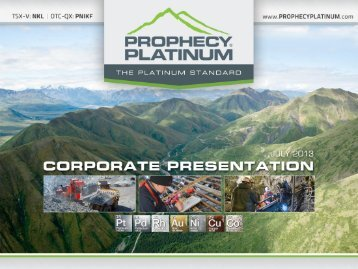 View Corporate Presentation - Yukon Gold Mining Alliance