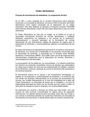 Codex - Instituto Interamericano de Cooperación para la Agricultura