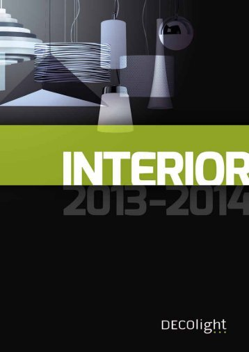 INTERIOR 2013 - 2014 tuotekuvastoon - DECOlight