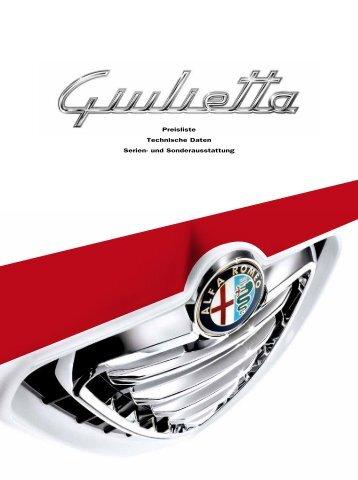 Alfa Romeo Giulietta Preisliste - MVC Motors