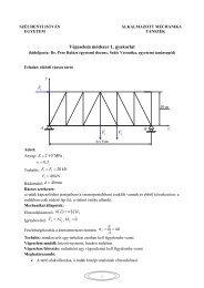 1. feladat - Alkalmazott Mechanika Tanszék