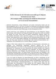 Bericht 10 Juni 2010 Homepage - Institut für Ökologie und Aktions ...
