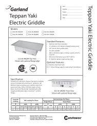 Teppan Yaki Electric Griddle Teppan Yaki Electric Griddle - Garland