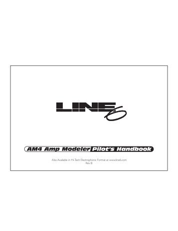 Line 6 AM4 User Manual - MIDI Manuals