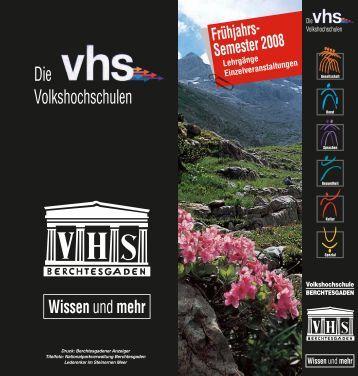 Die Volkshochschulen - Gemeinde Berchtesgaden