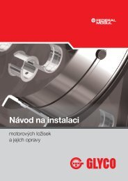 GLYCO návod na instalaci motorových ložisek a jejich opravy