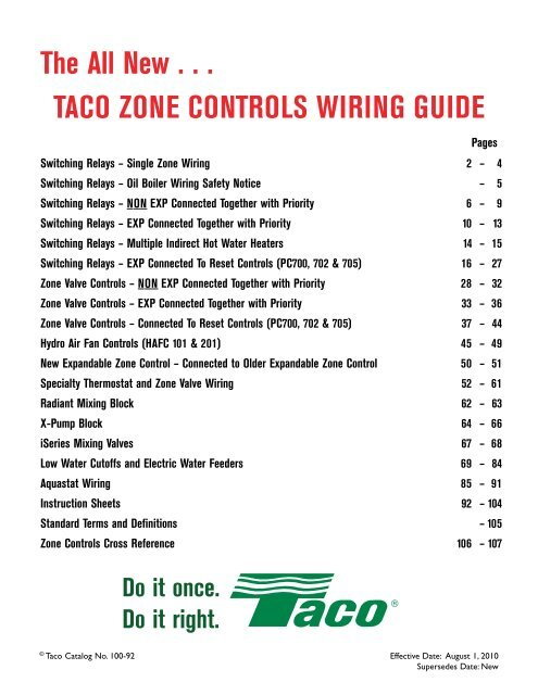 Taco Relay Sr 404 Wiring Diagrams - All Diagram Schematics