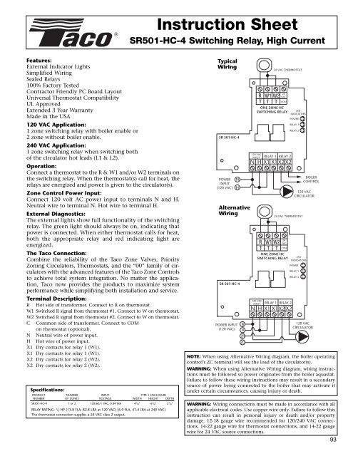 Taco Expandable Relay Wiring Diagram