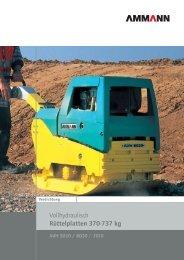 Vollhydraulisch Rüttelplatten 370-737 kg