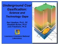 Underground Coal Gasification: - Office of Fossil Energy - U.S. ...