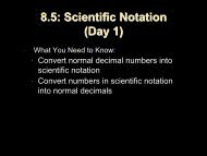 Scientific Notation - Bssd.net