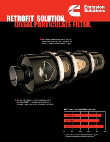 DIESEL PARTICULATE FILTER. RETROFIT SOLUTION. - Cummins
