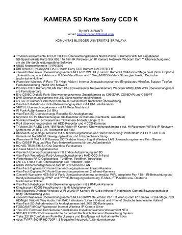 KAMERA SD Karte Sony CCD K - Komunitas Blogger Unsri ...