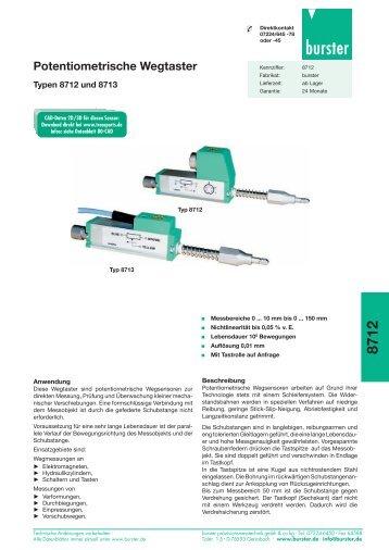 8712 Potentiometrische Wegtaster - Burster