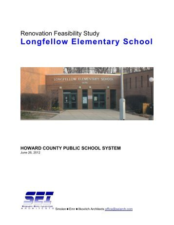 Renovation Feasibility Study - Howard County Public Schools