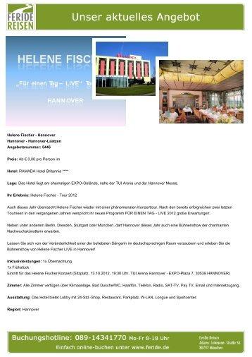 Helene Fischer - Hannover - Eventreisen - Trierischer Volksfreund