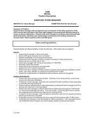 TUMI RETAIL Position Description ASSISTANT ... - Santana Row