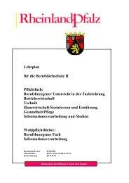 Lehrplan für die Berufsfachschule II Pflichtfach: Berufsbezogener ...