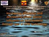Increasing efficiency and decreasing power plants' influence on ...