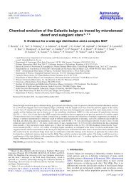 Chemical evolution of the Galactic bulge as ... - Lund Observatory