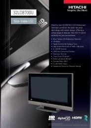 32LD8700U - Hitachi Digital Media
