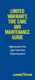 limited warranty, tire care and maintenance guide - Tire Rack