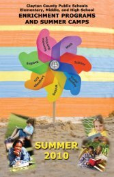 Summer Enrichment - Clayton County Public Schools