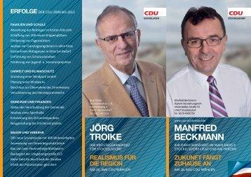 Manfred BeckMann jörg troike - CDU OV Stockelsdorf