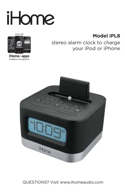 iPL8 User Manual - iHome