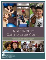 independent contractor guide and agreements - The Park District of ...