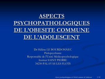 ASPECT PSYCHOPATHOLOGIQUES DE L'OBESITE ... - sofomec