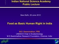 Food as Basic Human Right in India - Indian National Science ...